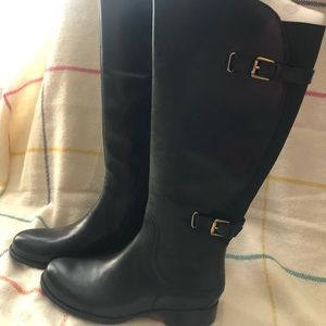 Naturalizer Jamison Wide Calf Black Boots